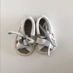 Other - White Leather Sandals